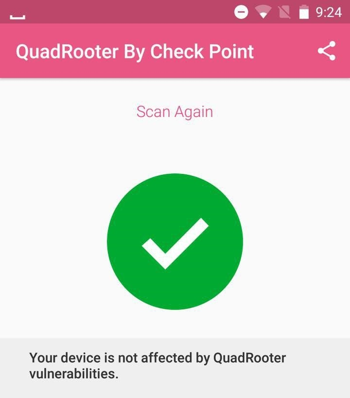 Quad rooter Scanner Result