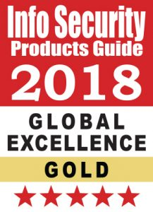 Info Security Products Guide 2018 Global Excellence gold award, presented to Silent Circle for GoSilent for the Best Security Hardware Product category and for the Wireless, Mobile, or Portable Device Security category.