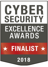 2018 Cyber security Excellence Award Finalist badge